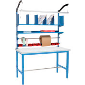 Packing Workbench Plastic Square Edge - 72 x 30 with Riser Kit