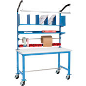 Mobile Packing Workbench Plastic Safety Edge - 60 x 30 with Riser Kit
