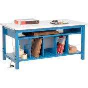 Packing Workbench ESD Safety Edge - 72 x 30 with Lower Shelf Kit