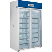 Global Industrial™ Upright Laboratory Refrigerator, 2 Glass Doors, 31.4 Cu.Ft.