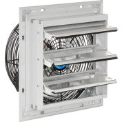 """Continental Dynamics® Direct Drive 10"""" Exhaust Fan W/ Shutter, 3 Speed, 1500CFM, 1/30HP, 1Phase"""