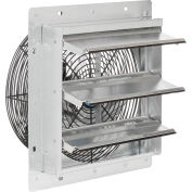 """Continental Dynamics® Direct Drive 12"""" Exhaust Fan W/ Shutter, 3 Speed, 2150CFM, 1/12HP, 1Phase"""