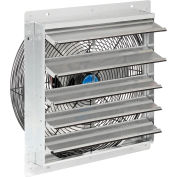 """Continental Dynamics® Direct Drive 18"""" Exhaust Fan W/ Shutter, 3 Speed, 5250 CFM, 1/8HP, 1Phase"""