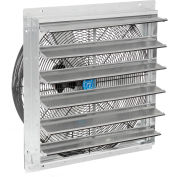 """Continental Dynamics® Direct Drive 24"""" Exhaust Fan W/ Shutter, 2 Speed, 7000 CFM, 1/4HP, 1Phase"""