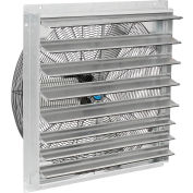 """Continental Dynamics® Direct Drive 30"""" Exhaust Fan W/ Shutter, 2 Speed, 8000 CFM, 1/4HP, 1Phase"""