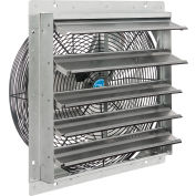 """Continental Dynamics® Direct Drive 18"""" Exhaust Fan W/ Shutter, 1 Speed, 5250CFM, 1/8 HP, 1Phase"""