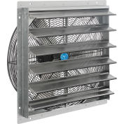 """Continental Dynamics® Direct Drive 24"""" Exhaust Fan W/ Shutter, 1 Speed, 7000 CFM, 1/4HP, 1Phase"""