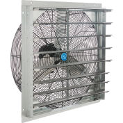 """Continental Dynamics® Direct Drive 30"""" Exhaust Fan W/ Shutter, 1 Speed, 8000CFM, 1/4 HP, 1Phase"""
