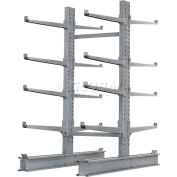 """Global Industrial™ Double Sided Cantilever Rack Starter, 2"""" Lip, 48""""Wx65""""Dx8'H"""