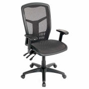 Mesh Task Chair - Mesh Seat - High Back - Black