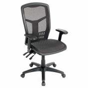 Interion® Mesh Task Chair - Mesh Seat - High Back - Black