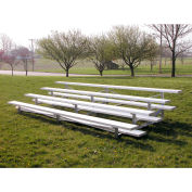 4 Row Low Rise Aluminium Bleacher, 21' Long, Single Footboard
