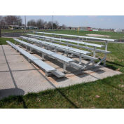 5 Row National Rep Aluminium Bleacher, 27' Long, Single Footboard