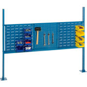 """Global Industrial™ 18"""" Pegboard & 18"""" Louver Panel Kit, 54""""W, Blue"""
