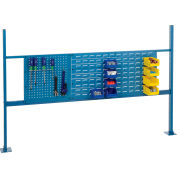 """Global Industrial™ Panel Kit for 72""""W Bench, 18""""W Pegboard, 36""""W Louver, Rail & Uprights Blue"""