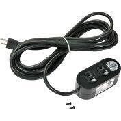 Global Industrial™ double prise électrique à double face avec cordon d'alimentation de 15', etl/cETL listé