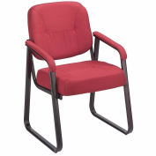 Interion® Guest Chair - Fabric - Burgundy