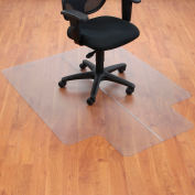 "Interion® Office Chair Mat for Hard Floor - 46""W x 60""L with 25"" x 12"" Lip - Straight Edge"