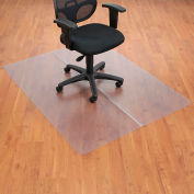 "Interion® Office Chair Mat for Hard Floor - 46""W x 60""L - Straight Edge"