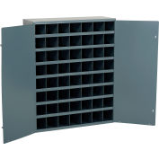Durham Steel Storage Parts Bin Cabinet 361-95 With Doors - 56 Compartments