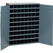 Durham Steel Storage Parts Bin Cabinet 363-95 With Doors  - 72 Compartments