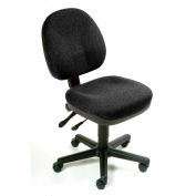 """Interion® Task Chair With 17-12""""H Back, Fabric, Black"""