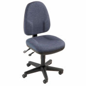 Interion® Task Chair With Mid Back, Fabric, Blue