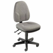 Interion® Multifunction Office Chair - Fabric - Gray