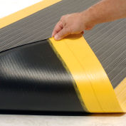 "NoTrax® Achilles™ Surface Mat 5/8"" Thick 2' x Up to 30' Black/Yellow Border"