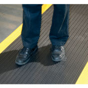"Apache Mills Soft Foot™ Ribbed Surface Mat 3/8"" Thick 3' x 60' Black/Yellow Border"