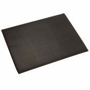 "Diamond Plate Mat, 1/2"" Thick 48""W Cut Length 1Ft Up To 60Ft, Black"