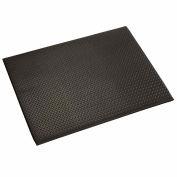 "Apache Mills Diamond Deluxe Soft Foot™ Mat 1/2"" Thick 2' x 60' Black"