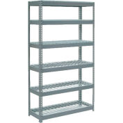 """Global Industrial™ Extra Heavy Duty Shelving 48""""W x 18""""D x 84""""H With 6 Shelves, Wire Deck, Gry"""