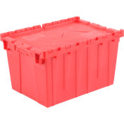 Plastic Storage Totes - Shipping Hinged Lid  DC2115-12 21-7/8 x 15-1/4 x 12-7/8 Red