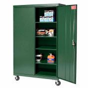 Sandusky Mobile Storage Cabinet TA4R462472 - 46x24x78, Green
