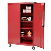 Sandusky Mobile Storage Cabinet TA4R462472 - 46x24x78, Red