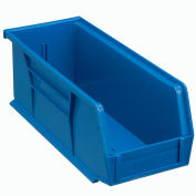 Global Industrial™ Plastic Stack and Hang Parts Storage Bin 4-1/8 x 10-7/8 x 4, Blue - Pkg Qty 12
