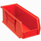 "Global Industrial™ Plastic Stack & Hang Bin, 4-1/8""W x 10-7/8""D x 4""H, Red - Pkg Qty 12"