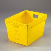 Carton ondulé en plastique Totes - Postal imbrication-sans couvercle 18-1/2 x 13-1/4 x 12 jaune, qté par paquet : 10