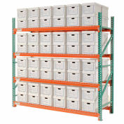 """Global Industrial™ Record Storage Rack Starter Letter Legal 96""""W x 36""""D x 96""""H"""