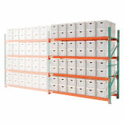"""Global Industrial™ Record Storage Rack Add-On Letter Legal 96""""W x 36""""D x 96""""H"""