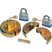 Justrite® 8511 Drum Lock Set with Padlocks for Plastic Drums - Pair