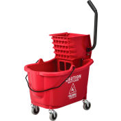 Global Industrial™ Mop Bucket And Wringer Combo, Side Press, Red