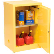 Eagle Compact Flammable Cabinet - Self Close Door 12 Gallon