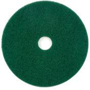 Tampon à récurer de 17 po, vert,5 par boîte