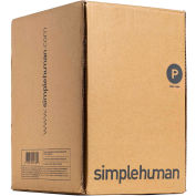 simplehuman® Trash pouvez Liner Code P - 16 gallons, 23,6 X 31,5, 1,18 Mil, blanc, Pack de 200