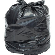 Global Industrial™ Light Duty Black Trash Bags - 40-45 Gal, 0.39 Mil, 250 Bags/Case