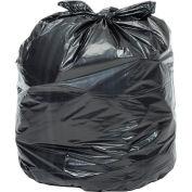 Global Industrial™ Heavy Duty Black Trash Bags - 12 to 16 Gal, 1.2 Mil, 250 Bags/Case