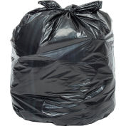Global Industrial™ Light Duty Black Trash Bags - 65-70 Gallon, 0.62 Mil, 200 Bags/Case