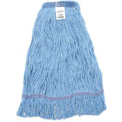 Global Industrial™ Small Blue Looped Mop Head, Narrow Band